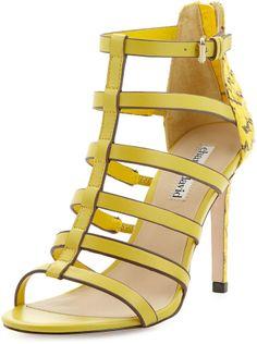 Charles David Idealize Snakeskin Strappy Sandal, Yellow on shopstyle.com