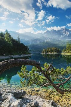 Eibsee, Bavaria, Germany   // For premium canvas prints & posters check us out at www.palaceprints.com
