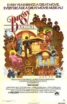 """MP826. """"Bugsy Malone"""" Movie Poster by Charles Moll (Alan Parker 1976) / #Movieposter"""