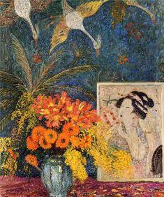 Harlem Renaissance, Japanese Woodcut, Japanese Art, Painting Still Life, Still Life Art, Art Floral, Art Occidental, Wood Artwork, Art Asiatique
