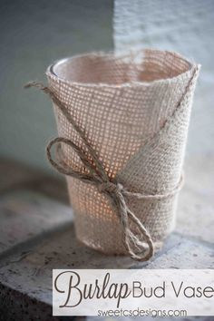 #Burlap bud vase from @Courtney O'Dell