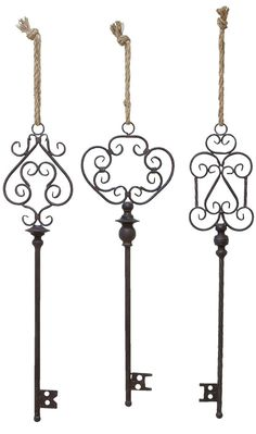 INSPIRATION :: These keys offer inspiring shapes that could be fashioned out of wire to create trellises for house plants like ivy.