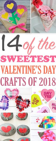 These are really sweet craft ideas for Valentine's Day. Perfect for craft night with friends or activities for kids. Great DIY gift ideas for all ages, from toddlers and preschoolers to adults. #valentinesday #craftsforkids #diy #easycrafts