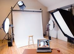 Need to set up your first studio at home? Check out these essentials for studio light photography at home. Photography Studio Setup, Photography Lessons, Photography Equipment, Photography Tutorials, Photography Business, Light Photography, Photography Studios, Street Photography, Portrait Photography