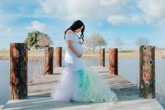 This rainbow baby gown is breathtaking beautiful. Celebrate your rainbowbaby with this gorgeous rainbow maternity gown. #ShopSexyMama #SexyMamaMaternity #rainbowbaby Pregnant Dresses, Maternity Gowns, Baby Gown, Rainbow Baby, Bodice, Photoshoot, Elegant, Celebrities, Sexy