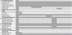 Contoh Format Jadwal Kegiatan Kesiswaan Semua Jenjang Sekolah Tahun Ajaran 2016-2017 Format Microsoft Excel