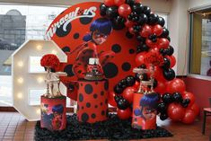 13th Birthday Parties, Birthday Party Decorations, Ladybug Cake Pops, Miraculous Ladybug Party, Ballon, Erika, Party Ideas, Barbie Birthday Party, Birthday Party Themes