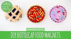 DIY Pie, Pizza & Cupcake Bottlecap Magnets - HGTV Handmade