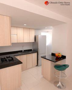 Transformamos tus espacios 👌 Diseño en L con barra pequeña y 💯% funcional Cali, Colombia 🇨🇴 Cali Colombia, Bella, Kitchen Cabinets, Ideas, Home Decor, New Houses, Modeling, Kitchen Design, Twin Girls Rooms
