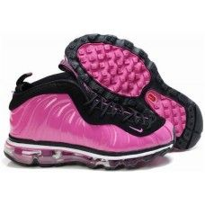 Womens Nike Air Foamposite One Air Max Shoes in hotPink/black
