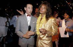 Pee Wee Herman and David Lee Roth, 1980