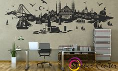 Istanbul silhouette wall decal wall sticker by Stckercenter