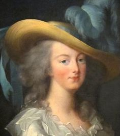 Marie-Antoinette wearing the coiffure à l'enfant, by Louise-Elisabeth Vigee-LeBrun, 1783. Wikimedia Commons
