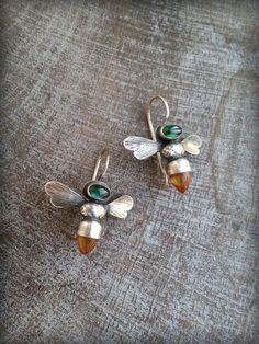 UK Sterling Silver Bumble Bee Drop Earrings Honey Bee Dangle Hook Ladies