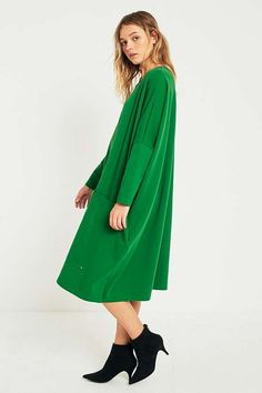 What a shape. Swing into the new season with LF Markey Milo Green Dress from Urban Outfitters.