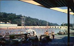 Coney Island, Cincinnati, OH. The largest recirculating swimming pool!