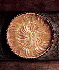 Apple Tart Recipe (Don't let the photo of this stunning apple tart fool you. The recipe is as breathtakingly simple to make as it is stunning to behold.)