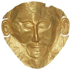 The Mask of Agamemnon is one of five golden masks found in a 3,500-year-old royal burial site at the Bronze Age (1600-1100 B.C.) citadel of Mycenae.