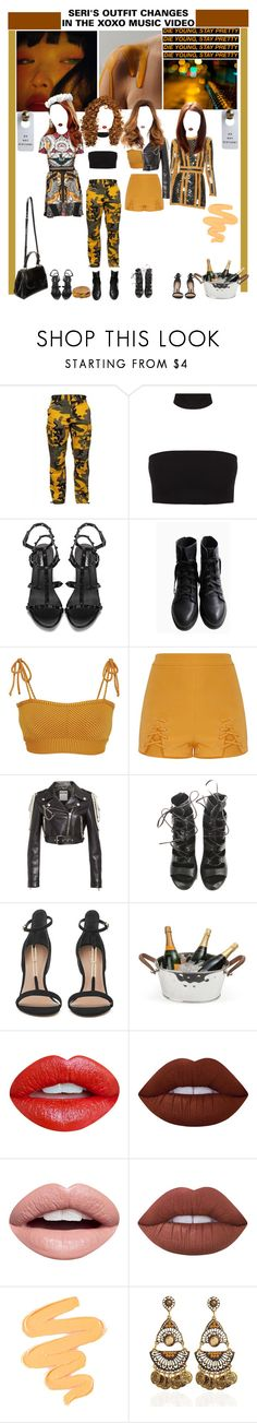 """«OUTFIT CHANGES» XOXO MV [SERI] ROCKIT"" by cw-entertainment ❤ liked on Polyvore featuring Made By Dawn, Balmain, Moschino, Culinary Concepts, Fendi, Nevermind, Lime Crime and Sigma"
