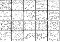 how to end line hand quilting diagram