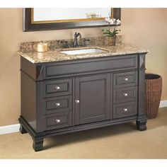 "Bathroom Vanities Costco for the bathroom to the pool $899.99 @costco marshall 48"" single"