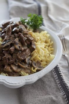 Instant Pot Beef Stroganoff is the easiest beef stroganoff dish ever! We love this for mid week as well as weekend dinners. The use of Greek yogurt OR sour cream makes this dish adaptable and easy to please more health conscious eaters! One recipe feeds about 6, although we often double this so we can have leftovers! Cost conscious too, this recipe uses Round Steak, which is tenderized in the Instant Pot. So easy and delicious, you'll never use your slow cooker again for Beef Stroganoff!