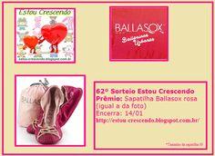 Vou ganhar a Linda Ballasox Rosa que estão sorteando no blog
