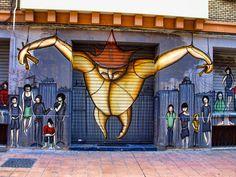 """Graffiti: Graffiti visto en el casco viejo de Zaragoza City"" by *luis*l*"