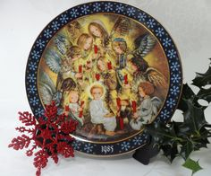 The Vigil of the Angels Sulamith Wulfing Konigszelt Ceramic Wall Art Bayern Bavarian Porcelain December 1985 Issue Christmas Wall Art by BelieveToBeBeautiful on Etsy