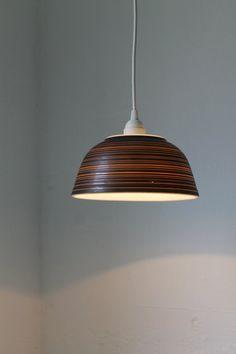 PYREX Terra Bowl Hanging Pendant Light - Upcycled Repurposed Vintage Pyrex Bowl Lighting Fixture - OOAK BootsNGus Lamp Design via Etsy