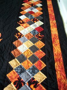 Close up of Harley Davidson quilt...good for Christmas!