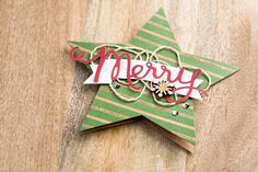 The die cut stars from the Many Merry Stars kit can be used to make some really fun, uniquely shaped Christmas cards.