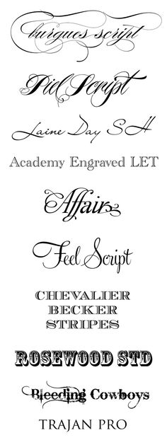 CT-Designs Calligraphy and Wedding Stationery: Top Wedding Fonts of 2011