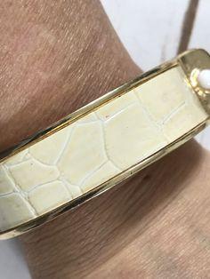 IMAN Global Chic Champagne  Goldtone Clamp Cuff Bracelet #IMAN #Statement