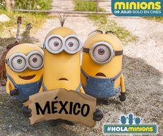 ¡Noticia de último minuto! Los minions vienen a México. #HolaMinions #iLoveMinions