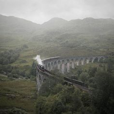 capturing this steam train chugging through the Scottish Highlands.