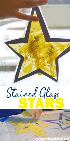 Stained Glass Star Suncatcher – Creative Family Fun Make a Stained Glass Star Suncatcher or many of them to decorate your windows when you make this fun Christmas craft for kids. Arts And Crafts For Adults, Crafts For Teens To Make, Easy Arts And Crafts, Arts And Crafts Storage, Arts And Crafts Furniture, Space Crafts, Preschool Christmas, Christmas Crafts For Kids, Christmas Fun