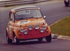 An austrian Steyr Puch 650 TR at the  24 Hours 1971 – the body of the car was identical to the Fiat 500, the engine was a 2-cylinder boxer developed by Steyr Puch themselves
