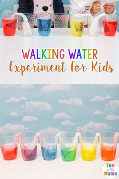If you're exploring colors in the classroom this is a great experiment to show the kids. Combines primary and secondary colors in a fun way to teach kids! Walking Water Experiments For Kids – Fun with Mama - Education and lifestyle Science Activities For Kids, Preschool Science, Color Activities, Science For Kids, Stem Activities, Science Centers, Science Daily, Summer Science, Science Fun
