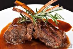 Lamb Chops with Balsamic Reduction Lamb Recipes, Cooking Recipes, Healthy Recipes, 185, Balsamic Reduction, Portuguese Recipes, Lamb Chops, Beef Dishes, Appetisers