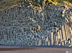 Basalt columns can be found in many places in Iceland but no surprise, since Iceland is a very active geothermal region and the columns are formed from the rapid cooling of lava. Places Around The World, Around The Worlds, Beautiful World, Beautiful Places, Formations Rocheuses, Basalt Columns, Giant Tree, Iceland Travel, Natural Phenomena