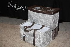 Thirty-One Large Utility Tote compared to Room For Two Utility Tote