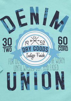 Clothing at Tesco | F&F Denim Union Long Sleeve T-Shirt > tops > Tops & T-shirts > Kids