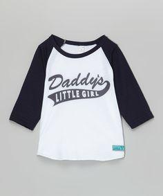 Love this LittleVMen Navy 'Daddy's Little Girl' Raglan Tee - Infant, Toddler & Girls by LittleVMen on #zulily! #zulilyfinds