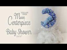 40a451435 Dollar Tree Moon Centerpiece / Baby Shower Decor - YouTube Teddy Bear  Centerpieces, Baby Boy