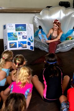 Nocatee campers gathered around to listen to Mermaid Athena read aquatic themed books! Summer Days, Summer Fun, Summer Time, Day Camp, Book Themes, Campers, Mermaid, Activities, Reading