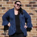 Rebecca Page Circle Cardie Hacks – Flouncy Sleeves