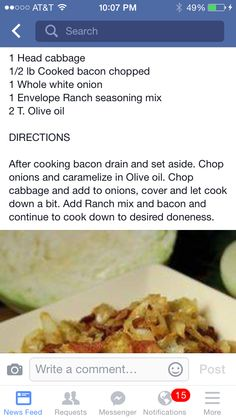 Ranch Fried Cabbage