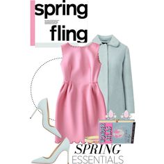 Spring Pastels... by glamorous09 on Polyvore featuring moda, Manolo Blahnik, Olympia Le-Tan, Forever New, Jeweliq and Casadeco
