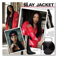 """LADIES NATION - SLAY JACKET"" by svijetlana ❤ liked on Polyvore featuring Havva, 3.1 Phillip Lim and OPI"